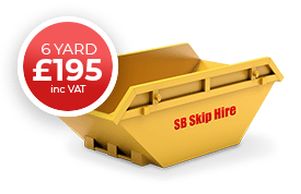 sb skip hire recycling waste management 6 yard skip