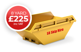sb skip hire recycling waste management 8 yard skip